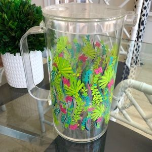 Lilly Pulitzer drink pitcher nice to see you